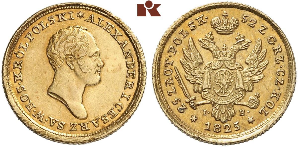 PL 25 Zloty 1825