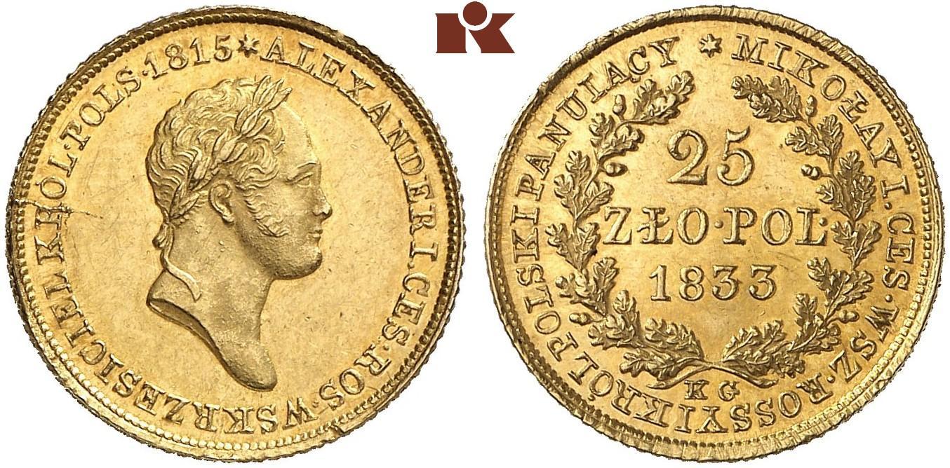 PL 25 Zloty 1833