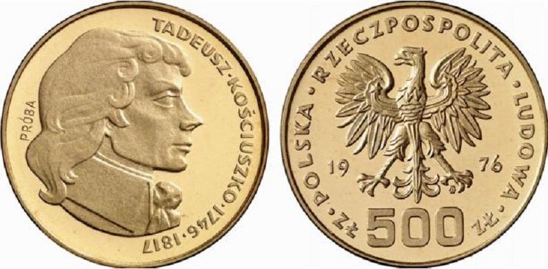 PL 500 Zloty 1976 monogram MW