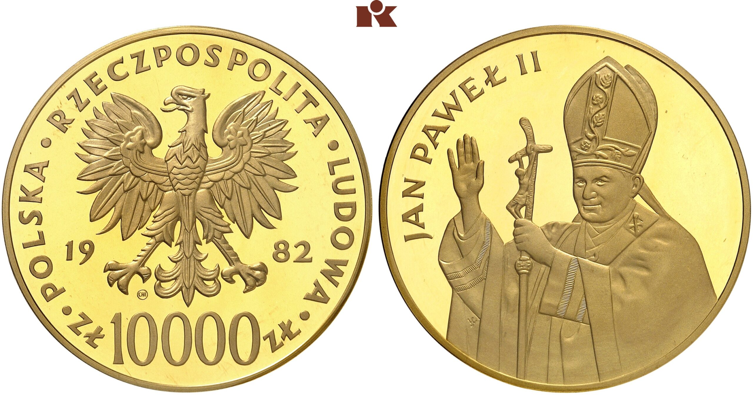 PL 10000 Zloty 1982 CHI within circle
