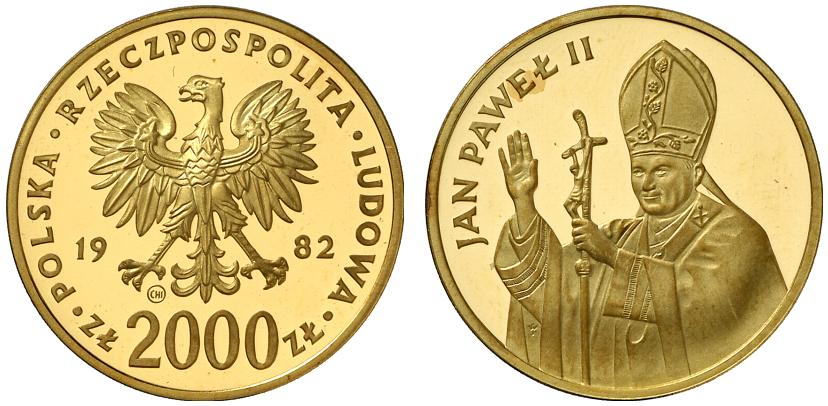 PL 2000 Zloty 1982 CHI within circle