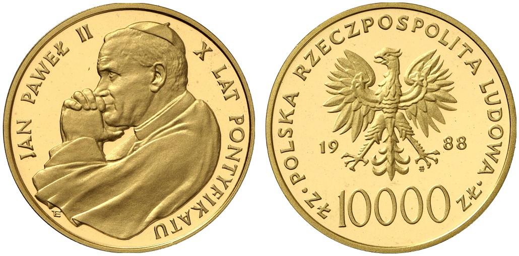 PL 10000 Zloty 1988 monogram MW