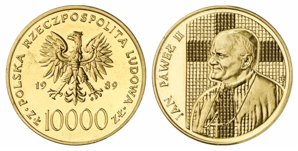 PL 10000 Zloty 1989 monogram MW