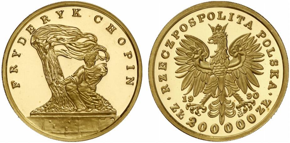 PL 200000 Zloty 1990 Solidarity Mint logo