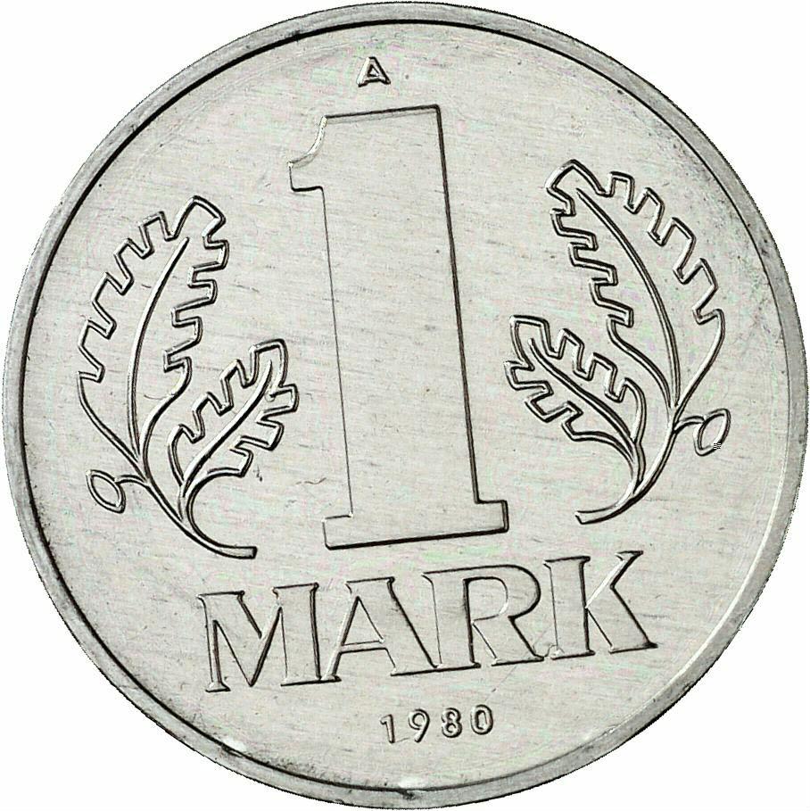 DE 1 Mark der DDR 1980 A