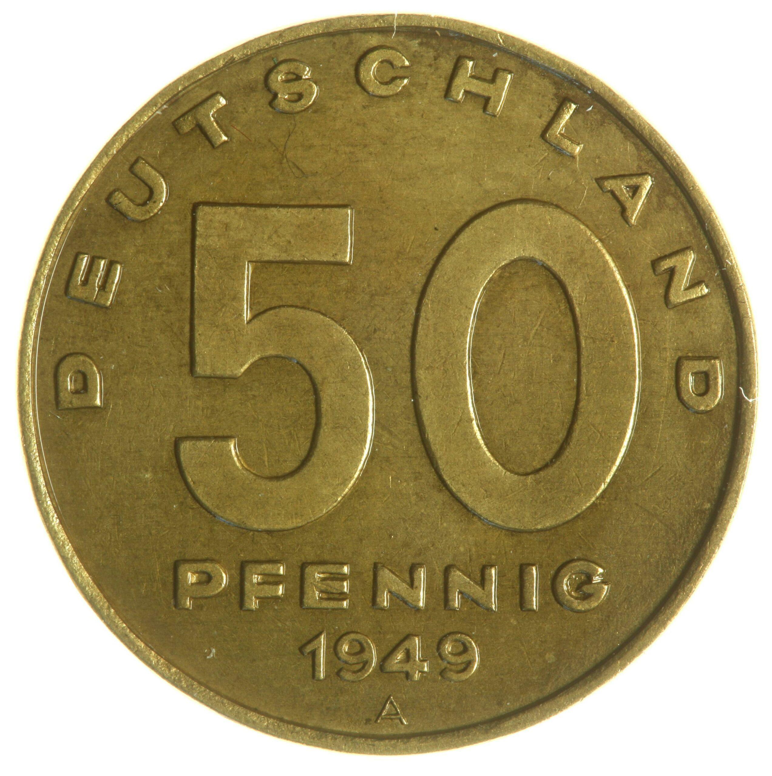 DE 50 Pfennig 1949 A