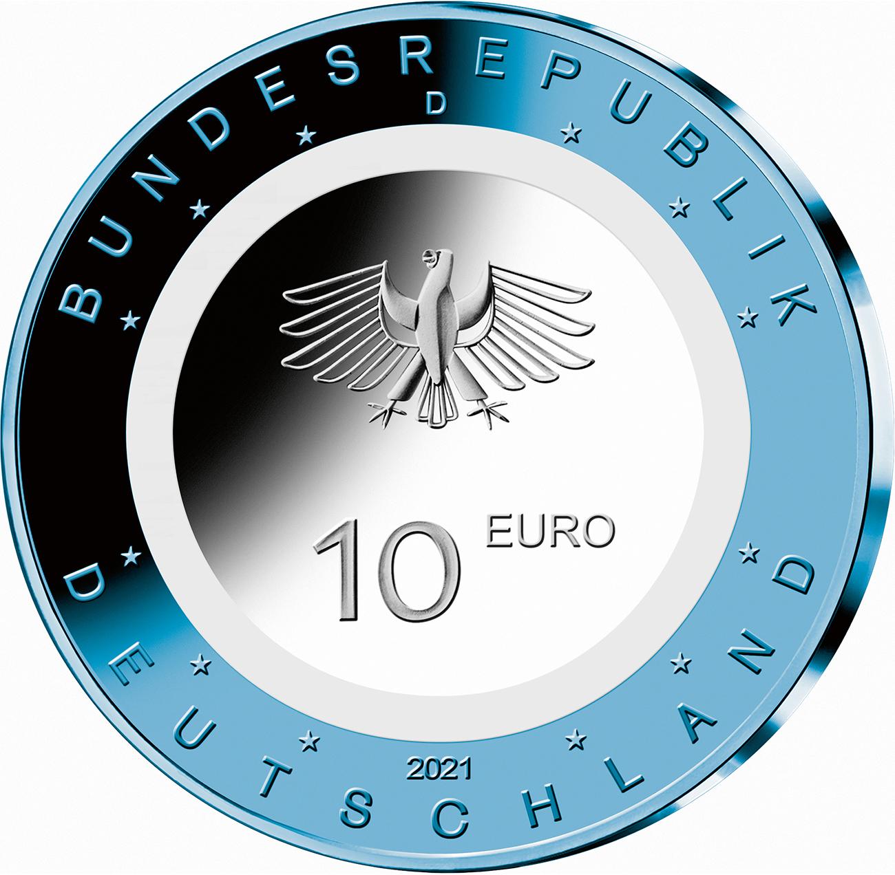 DE 10 Euro 2021 D