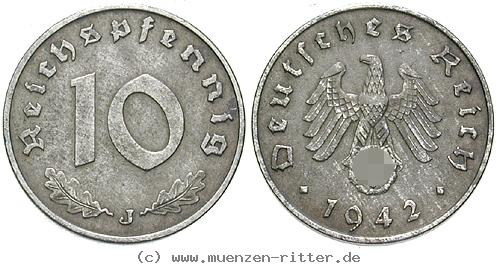 DE 10 Reichspfennig 1945 E