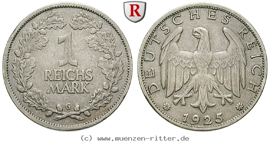 DE 1 Reichsmark 1925 G