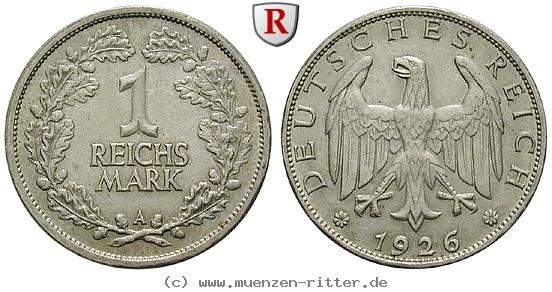 DE 1 Reichsmark 1926 A