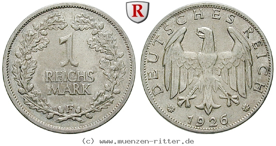 DE 1 Reichsmark 1926 F