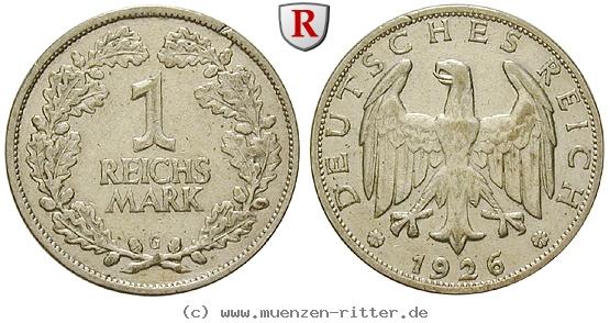DE 1 Reichsmark 1926 G