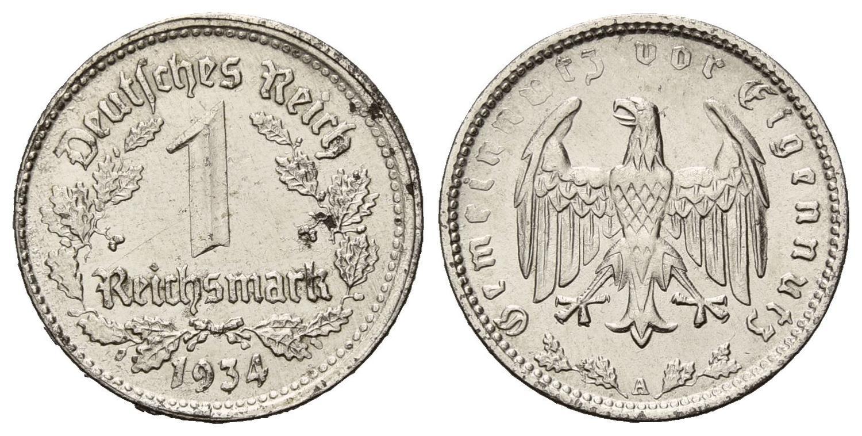 DE 1 Reichsmark 1934 A
