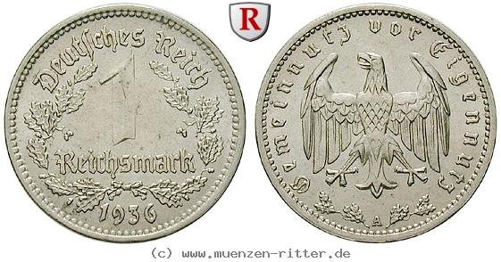 DE 1 Reichsmark 1936 A