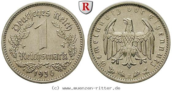DE 1 Reichsmark 1936 E