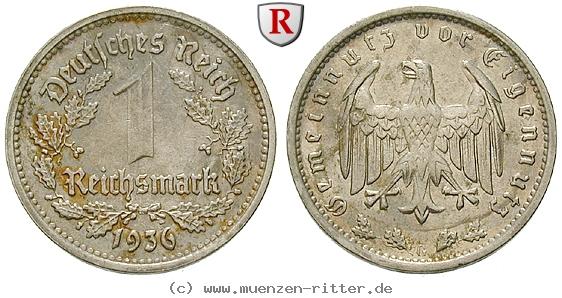 DE 1 Reichsmark 1936 G