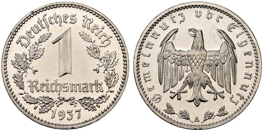 DE 1 Reichsmark 1937 E