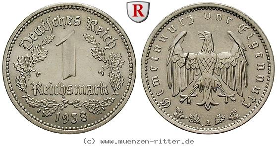 DE 1 Reichsmark 1938 A