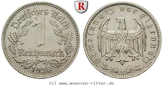 DE 1 Reichsmark 1938 E