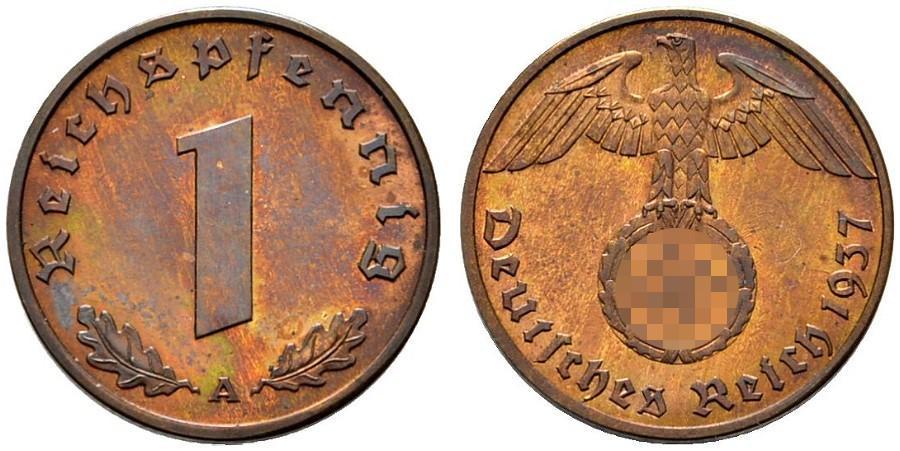 DE 1 Reichspfennig 1937 J