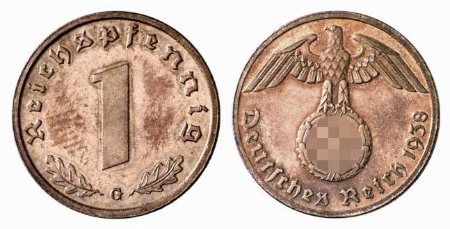 DE 1 Reichspfennig 1938 J