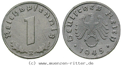 DE 1 Reichspfennig 1942 E