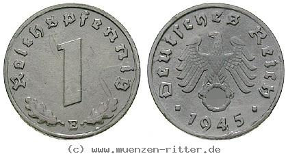 DE 1 Reichspfennig 1943 E