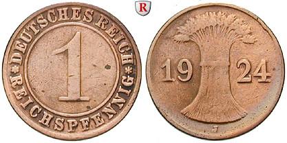 DE 1 Reichspfennig 1924 F