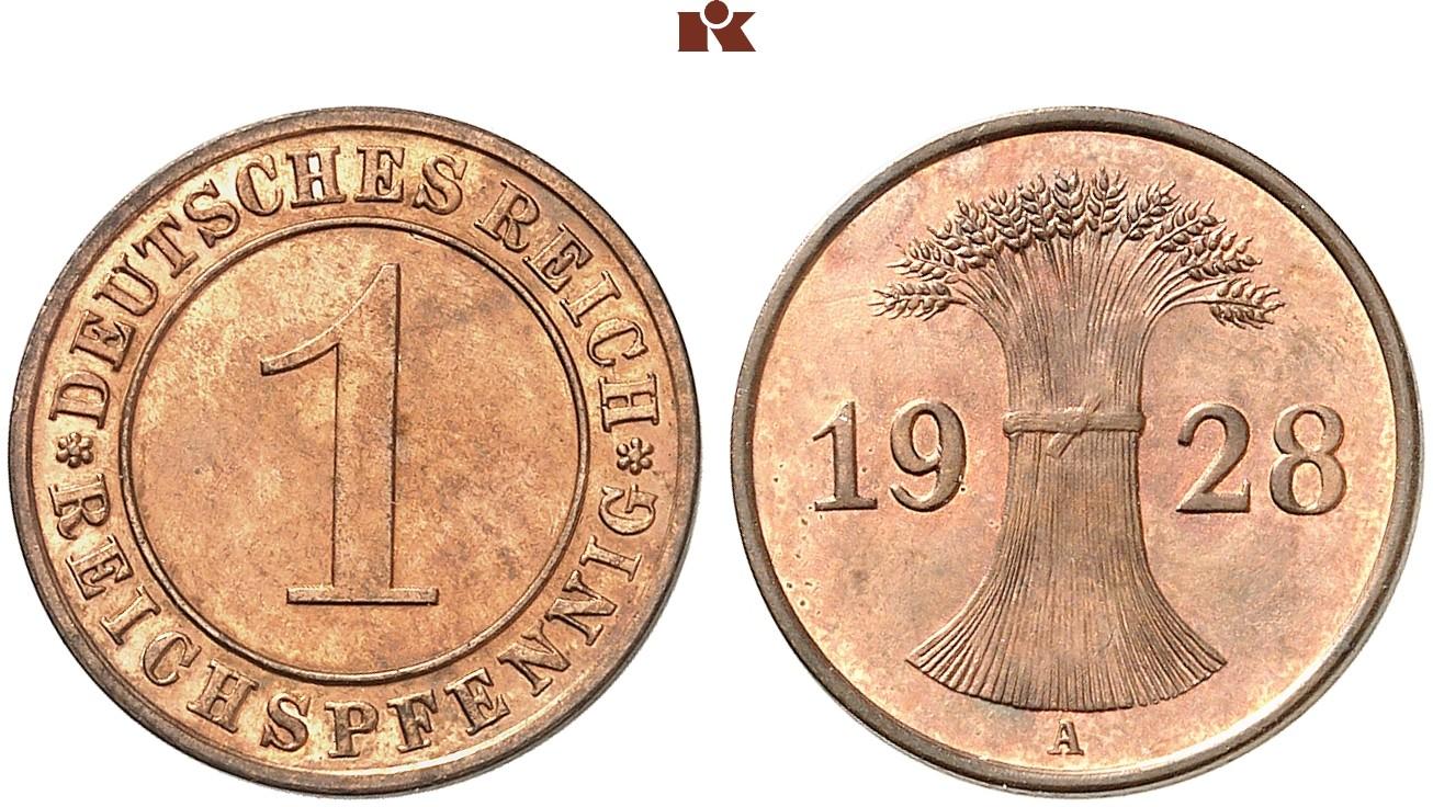 DE 1 Reichspfennig 1928 F