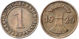 DE 1 Reichspfennig 1929 E