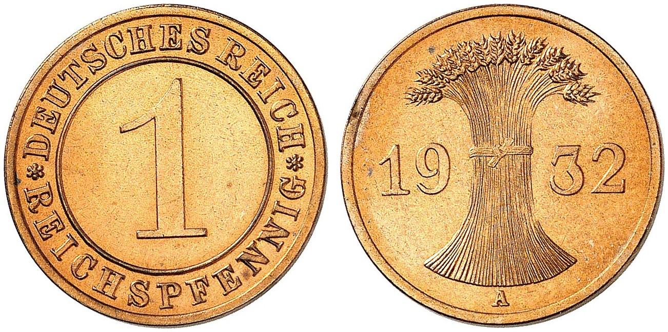 DE 1 Reichspfennig 1932 A