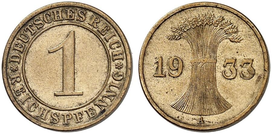 DE 1 Reichspfennig 1934 E
