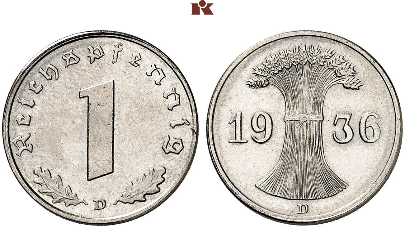 DE 1 Reichspfennig 1936 A