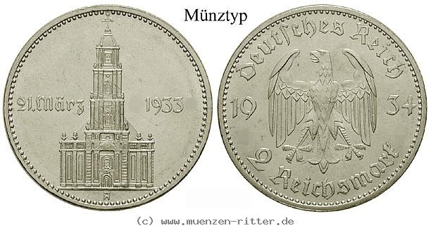 DE 2 Reichsmark 1934 G