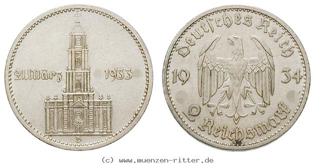 DE 2 Reichsmark 1934 D