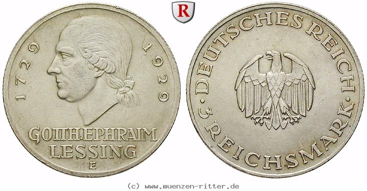 DE 3 Reichsmark 1929 E