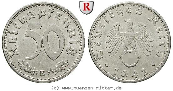 DE 50 Reichspfennig 1942 G