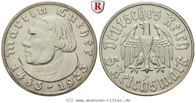 DE 5 Reichsmark 1933 D