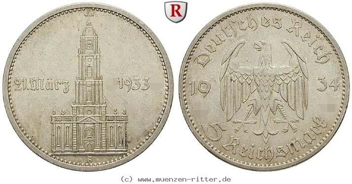 DE 5 Reichsmark 1934 G