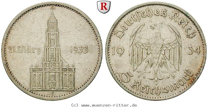 DE 5 Reichsmark 1934 E