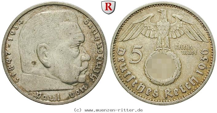 DE 5 Reichsmark 1936 J