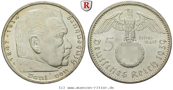 DE 5 Reichsmark 1939 J