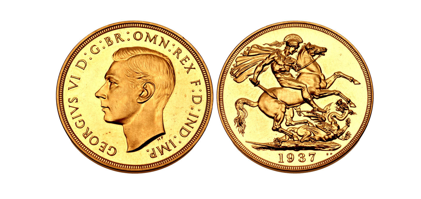GB Double Sovereign 1937