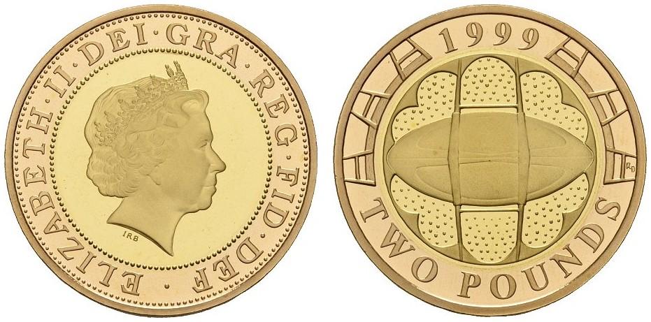 GB 2 Pounds 1999