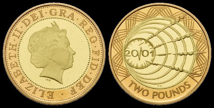 GB 2 Pounds 2001