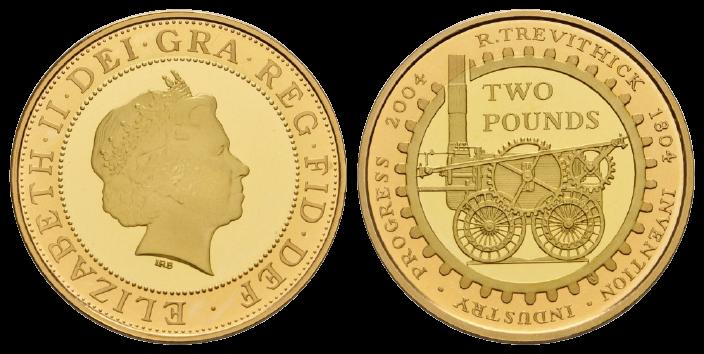 GB 2 Pounds 2004