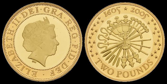 GB 2 Pounds 2005