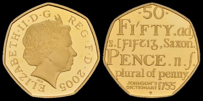 GB 50 Pence 2005