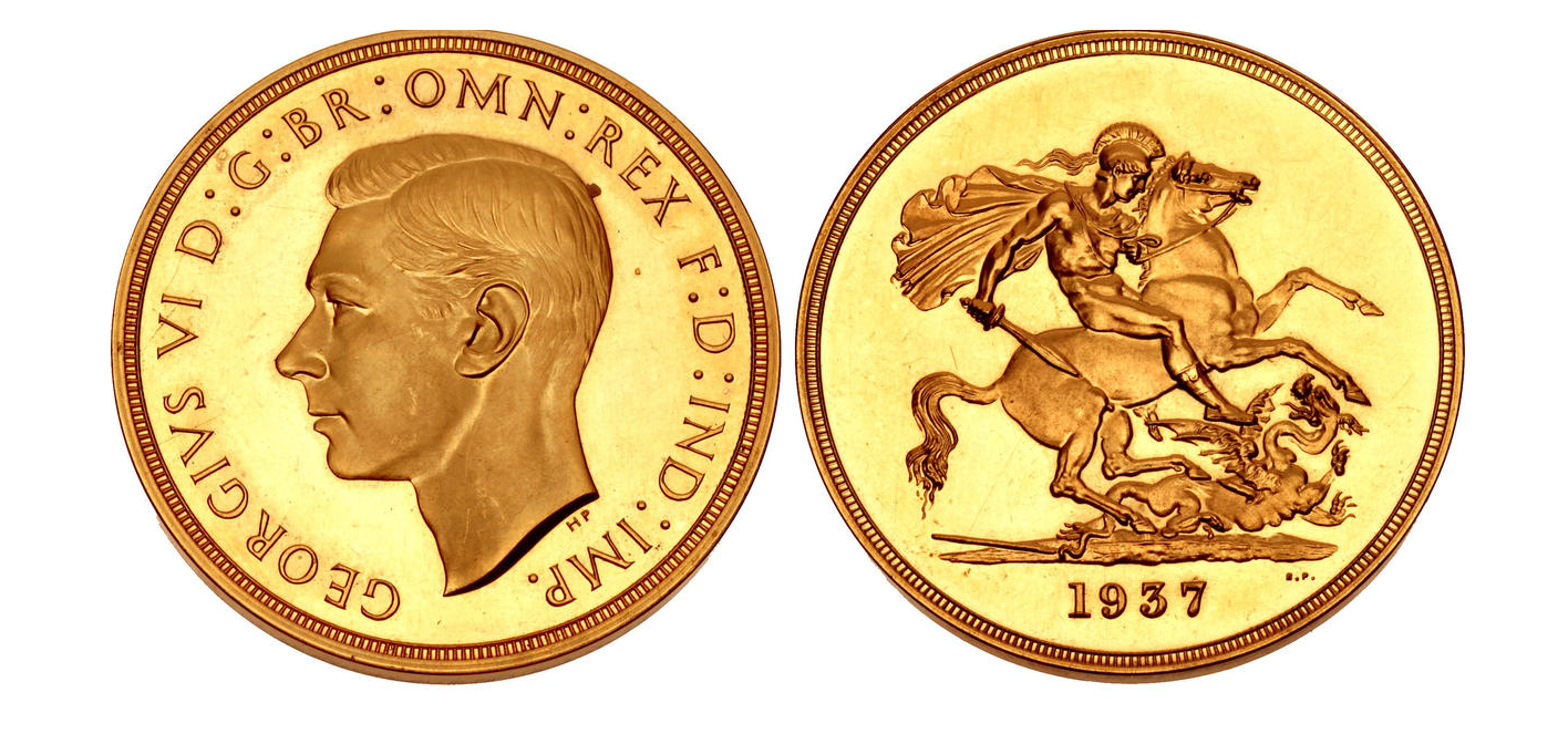 GB Quintuple Sovereign 1937