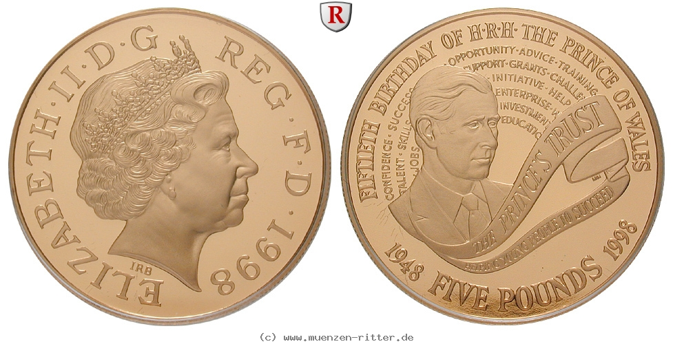GB 5 Pounds 1998